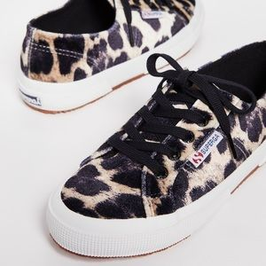 [ nib ] Superga Fanvelw Leopard Sneakers